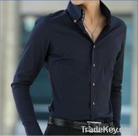 2011 man's 100% cotton slim fit button-down collar fashion casual shir