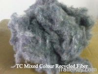 Poly-Cotton (TC) Mix Color Recycled Fiber