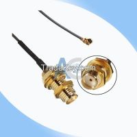 SMA Female to U.FL/IPEX/IPX pigtail coaxial cable