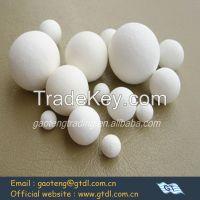 high alumina grinding ball for ceramic (abrasion rate<0.01%,hardness>9,Al2O3>92%)
