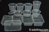 Plastic takeaway food container