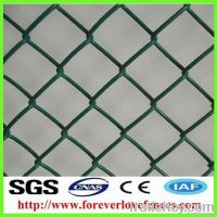 PVC coated chain link fence/ factory