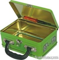 lunch tin box with handle, environmental protection lunch box