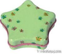 star shape gift tin box