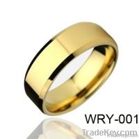Gold Plated Mens Tungsten Wedding Ring 8mm