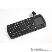 Mini 2.4G RF wireless keyboard with touchpad and flashlight
