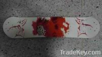 delicate longboard and skateboard