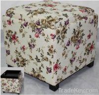 modern printing Flower storage ottoman