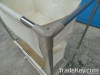 stainless steel tube two layer  laundry cart