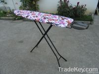 Foldable adjustable mesh ironing board