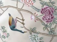 hand-painted silk embroidery wallpaper