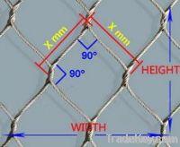 Flexible stainless steel rope mesh