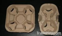 coffee tray, coffee cup. pulp tray. pulp craft