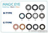 Black Circle Lens - Black & Choco