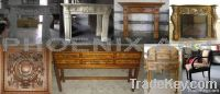 Hand Carved Wooden Fireplace Mantel/Antique Furniture in China