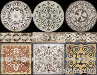 mosaic wall and floor tiles, painting pattern