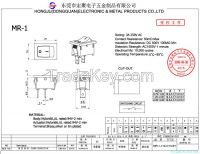Rocker switch  MR-1