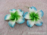2011 polymer clay fashion flower drop earring