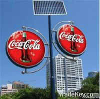 square or street use solar advertising light box