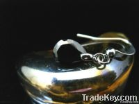Tear Drop Black Simulated Sapphire Dangle Earrings 575