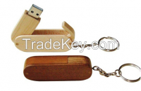 Customized Swivel Wood Flash Drive