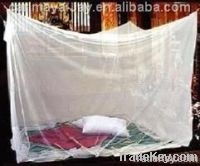 Impregnated mosquito nets be treated by deltamethrin or permethrin