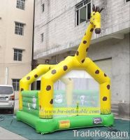 inflatable dinosaur castle/inflatable giraffe bouncy castle