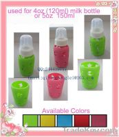 LFGB Baby feeding bottle cover/sleeve custom design welcom SF-P-01