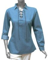 Women Light Denim Blouse