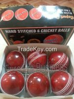 Hand Stitch Leather  Cricket Ball For Professional Game