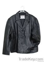 Ladies Leather Dress Coat