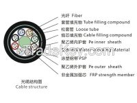Stranded Loose Tube No-metallic Strength Member -Armored Cable GYFTY53