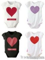 Newest baby lovely heart 100% cotton romper