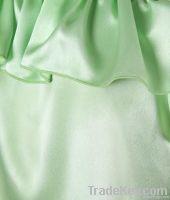 Shimmering Green Satin Blouse