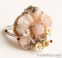 Bold Sea Bamboo Shell Ring