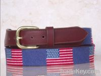 Handmade Needlepoint Leather Dog Collars