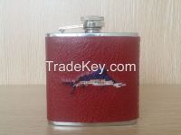 5oz Stainless Steel PU Leather Hip Flask at Cheaper Price
