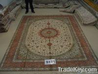 400lines 6X9foot handmade pure silk persian carpet