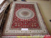 Oriental woven mulberry silk carpet