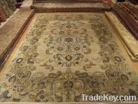 Persian 100% pure silk hand woven carpet