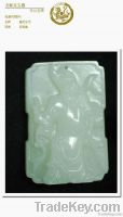 Green white jade the duke guan yu brand   Manufacturers customization