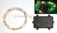 RGBY LED Christmas Lights,timer battery operated LED Christmas wire lights,LED wire string lights,LNL-001-BT-RGBY