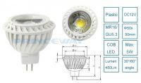 COB 5W MR16 LED spotlight bulb 450Lm high lumens and hot sale for track lights,SLB-001-MR16C