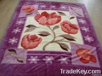 100% Polyester Printed Flower Blanket
