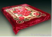 100% Polyester Printed Flower Blanket