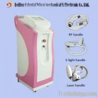 E light(ipl&rf)+ RF +Nd yag Laser multifunction beauty machine
