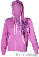 Ladies Pink zip Hoodies