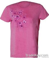 Girl SS Pink fancy Tee