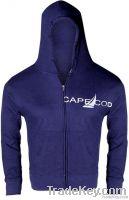 Navy Blue Zipper Hood