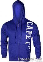 Grey Fleece Zipper Hood